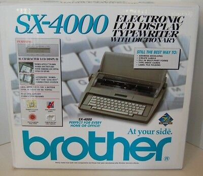 BROTHER SX-4000 Electronic LCD Display TYPEWRITER with Dictionary New in Box