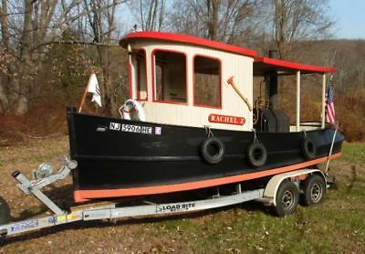 20' STEAM POWERED TUG BOAT REPLICA W/ TRAILER RACHAEL Z -Just add water!