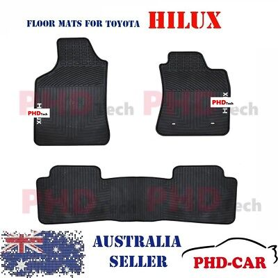 Premium Quality All Weather Rubber Car Floor Mats for Hilux Dual Cab 2005-2015