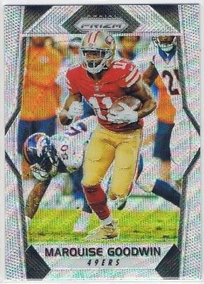 2017 Prizm - Blue Wave Prizm Parallel #57 Marquise Goodwin - 49ers #105/149