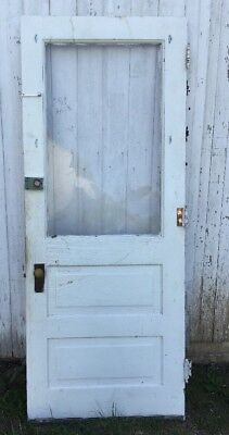 "Vintage Solid Wood Door Needs New Glass 31 1/4"" x 179 1/8"" x 1 3/8"" d"