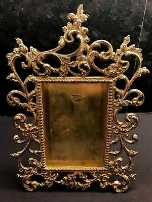 Antique Ornate Cast Iron Picture Frame Patented 1894