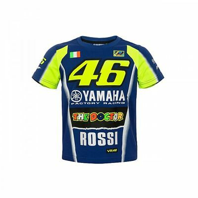 2018 OFFICIAL Moto GP VR46 Rossi YAMAHA Childrens KIDS Boys Junior T-shirt - NEW