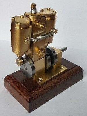 Scratch built twin cylinder double acting steam engine