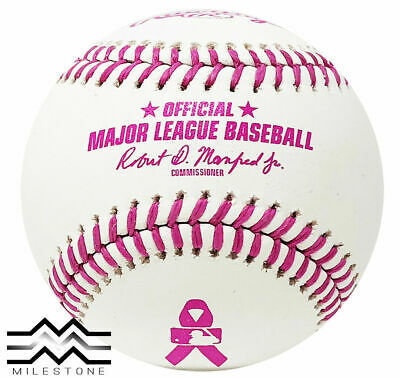 Rawlings Official Breast Cancer Pink Major League MLB Baseball Manfred Boxed