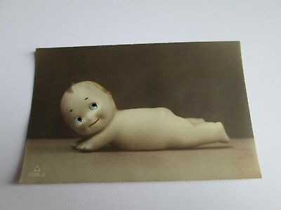 Glass Eyed Novelty postcard of Undressed Doll c1915-1930 (unposted) 5008