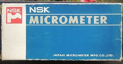 NSK YAB02-M-303-101 Micrometer 0.01 - 25 mm  MADE IN JAPAN IN CASE