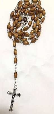 Holy Land  Olive Wood Best Seller Rosary with Jerusalem soil Catholic Faith