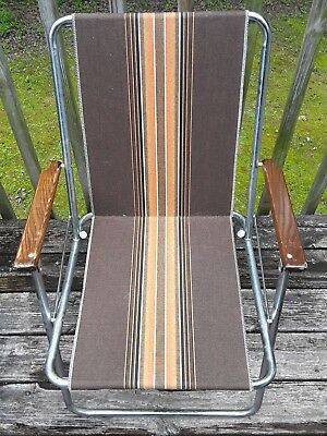 Remarkable 1 Vintage Zip Dee Chrome Folding Chairs Rv Camper Brown Beatyapartments Chair Design Images Beatyapartmentscom
