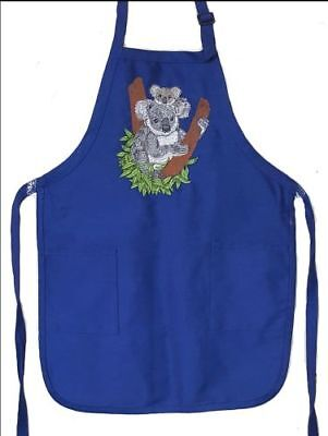 Koala Mom and Baby Embroidered on an Apron
