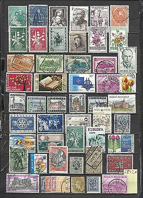 2842-Lote Stamps Belgium Ancient And Modern Without Price,