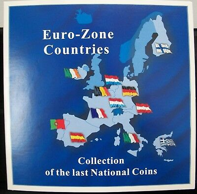 Euro Zone Countries Collection Of Last National Coins * 12 Coin Set