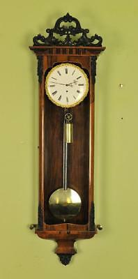 Biedermeier Vienna Regulator Wall Clock