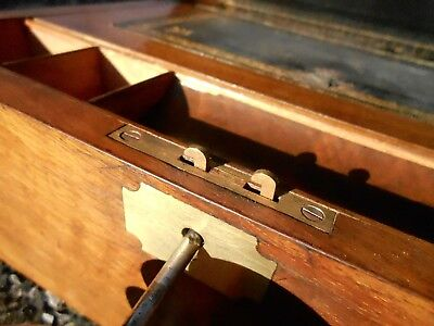 Antique Wooden Writing Slope Nb In Good Order Generally. Some Tlc Simple Repairs