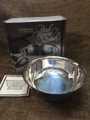 "Gorham Silverplate Paul Revere YC779 Footed Bowl 6.5"" In Box"