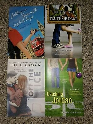 4 Teen Young Adult Contemporary PB Books Lot Julie Cross Miranda Kenneally Sport