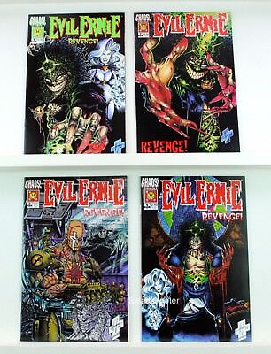 Complete Chaos Comics Evil Ernie Revenge Mini Series Lot of 4 Comic Books NM