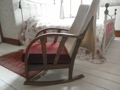 Rocking Chair Art Deco/Arts and Crafts /Art Nouveau Unusual and Vintage.