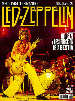 LED ZEPPELIN Special Spanish Magazine + Super Posters - June 2018 - JIMMY PAGE