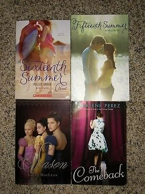 4 Teen Young Adult YA Paperback Books Contemporary Historical Summer Reads