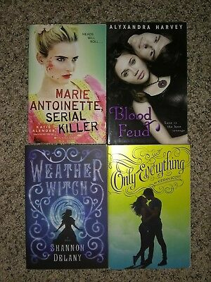 4 Teen Young Adult YA Paranormal Witches Vampires Paperback Books Lot Set
