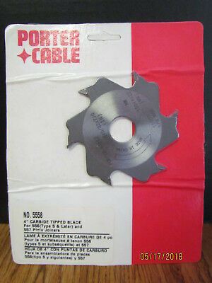 """New Porter Cable #5558 / #5557 Biscuit Joiner Blade 4"""" Carbide 556-5 & 557"""