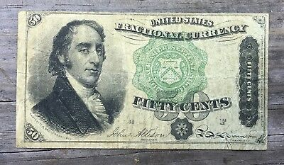 50ct Fractional Currency FR1379 Green Seal