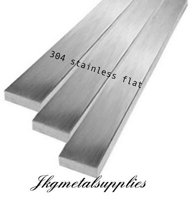 304/A2 STAINLESS FLAT BAR- multi variations thickness, width, length