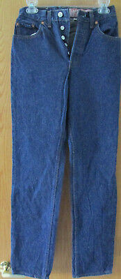 Vintage 501 Levi's Jeans, Dark Wash 26501 0118 Size 9 (30x36) Full Leather Tag