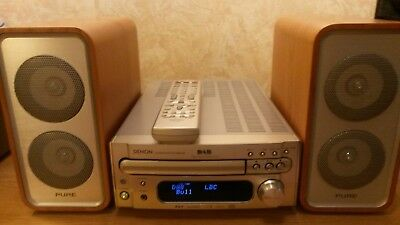 """Denon RCD-M35 DAB Receiver Amplifier CD MP3  With """"Pure"""" Digital Speakers Remote"""