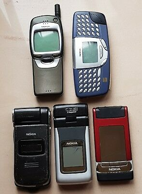 Lot Nokia N93 N90 N76 7110 5110 Collection Cell Phones Rare Gennuine Mobiles