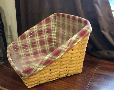 Longaberger Book Keeper Basket with Liner and Protector
