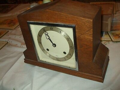 Vintage Art Deco 'elliott' Striking Mantle Clock