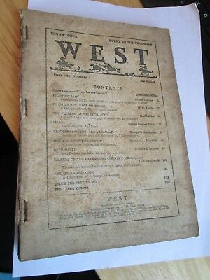 """Vintage 1930 """"West"""" Annual/Comic Mid October"""