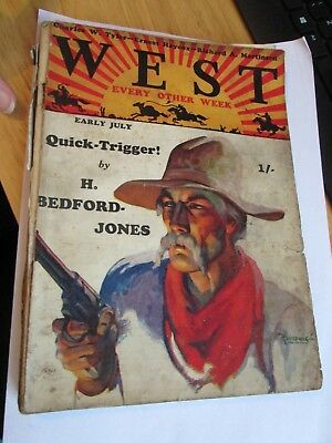 """Vintage 1930's """"West"""" Annual/Comic Early July"""