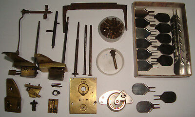Clock Parts Assortment Of Antique & Vintage Clockmakers Hobby Repairers LOT 38