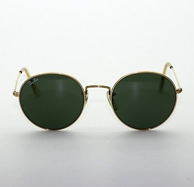 VINTAGE B&L RAY BAN USA W0607 ROUND SUNGLASSES 52-21 With Case EXCELLENT
