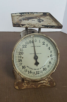 Vintage 25 Lb Scale *Farmhouse Style *Clock Face *Patented Oct 29th 1912 *DECOR