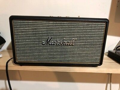 Marshall STANMORE Portable Bluetooth Speaker System Black. Excellent Condition.