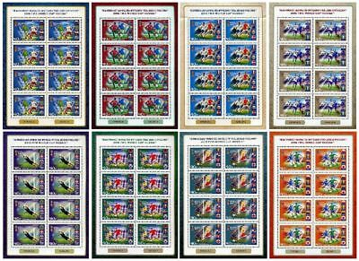 RUSSIA RUSSLAND 2018 Klb 2559-66 8 Participating Teams Soccer World Cup FIFA MNH