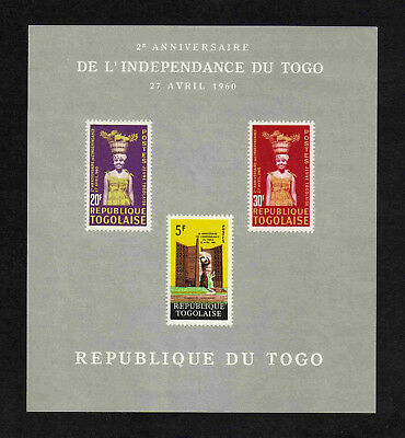 Togo 1962 2nd Anniversary of Independence imperf miniature sheet (SG MS308a) MNH
