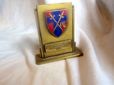 A Vintage British Army Of The Rhine In Service Athletics Champs Plaque 1960