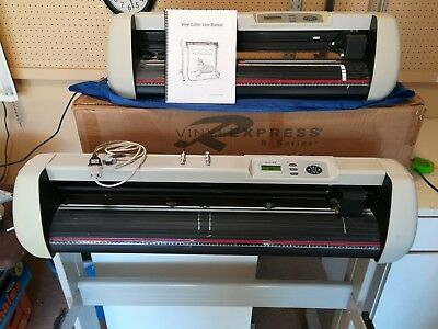 "3 Vinyl Cutters: 1 New, Vinyl Express 28"" and 2 Used, Masters 28"" and 35"""