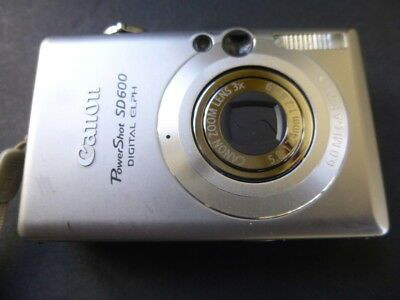 Canon PowerShot SD600 6MP Digital Elph Camera 3x Optical Zoom with Accessories