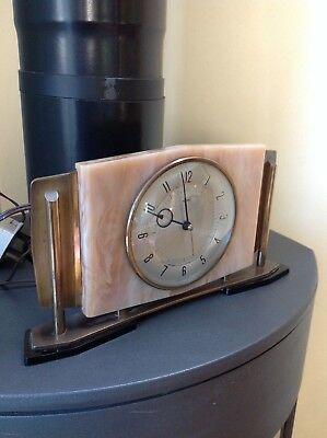 1968 fully serviced working beautiful electric mantle clock english