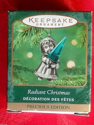 HALLMARK 2001 RADIANT CHRISTMAS Precious Edition MINIATURE ORNAMENT-NIB+pt