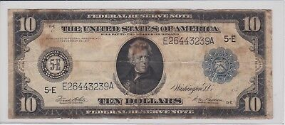 1914 10 Dollar Federal Reserve Note