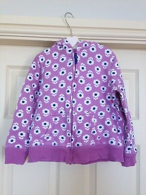 Girls Mini Boden 5-6 Hoodie Lilac Purple Floral