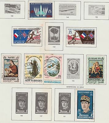 NEW HEBRIDES Collection 1968-71 South Pacific Games, Christmas, etc USED #
