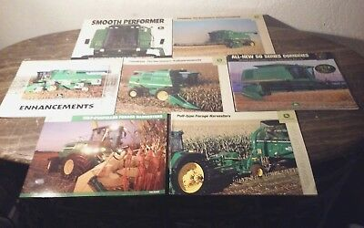 7 John Deere Combine + Forage Harvesters Brochure Lot 10 50 Series 4435 9000